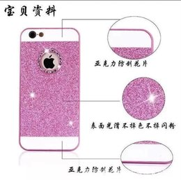Wholesale Diamante Iphone Covers - Luxury Acrylic Diamond Rhinestone Diamante Glitter Case With Bling Powder Back Cover For iPhone4 4S 5 5S 6 4.7'' 6plus 5.5''