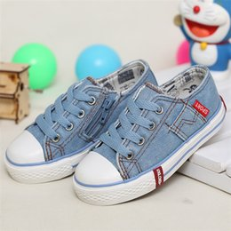 Wholesale Canvas Shoes For Low Price - Brand Fashion Kids Canvas Shoes Denim Lace-Up Casual Shoes for Kids Low Price High Class Boys Canvas Shoes K3