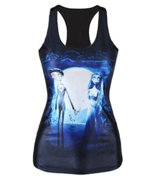 Wholesale Bride Tank Tops - Free Shipping 2015 Summer sport tops for women The Corpse Bride 3D Printed Vest tops Camisole top women harajuku Sexy Tank top