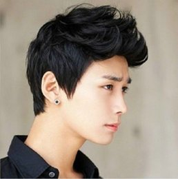Wholesale Black Boy Wig - HOT! Handsome boys short black wig Cosplay Wig New Fashion Sexy Men