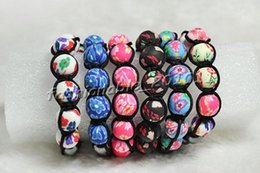 Wholesale American Polymers - Bracelets Shamballa Style FIMO polymer clay Flower Girl's Women's Bracelets Fashion polymer clay bracelets free shipping