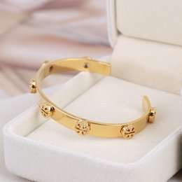 Wholesale hollow cuff bracelet - Top quality brand and Brass material love punk opened hollow Bangles 0.7cm width Design Cuff Bracelet Cufflink Send Women and mother gift