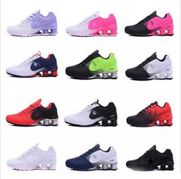 Wholesale Men Low Top Flats Shoes - New arrival Shox Deliver 809 Men women Running Shoes Cheap Fashion Sneakers white black red Shox Current Top Quality Sport Shoes Size 36-45