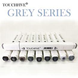 Touchfive серый тон искусства маркер набор алкоголя на основе кисти пера лайнера эскиз маркеры сенсорный Твин для манга аниме рисунок искусства поставки от