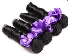Wholesale Diy Hair Weft - 2015 Fashion Virgin Hair Weaving Natural Black Romance Spring Curly 100g pc DIY Hair Extensions