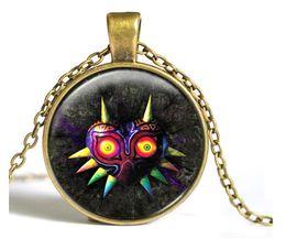 Wholesale Zelda Glass - Zelda Triforce Necklace Legend of zelda pendant personality Round Dome necklace Jewelry