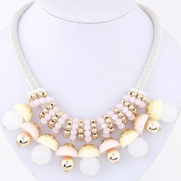 Wholesale Candy Color Collar Necklace - Fashion Exaggerated Metal Candy Color Choker Collar Necklace Jewelry All Match Women Necklace Fashion Clothes Accessories