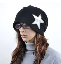 Wholesale Tall Stars - Pentacle Star Warm Skull Beanie Hip Hop Knit Cap Ski Crochet Cuff winter hat for Women Men QY