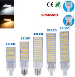 Wholesale G24 44 - SMD5050 G24 LED corn light 5W 7W 9W 11W 13W 15W 110V AC 220V Bombillas Floodlight 25 35 44 52 64led Project Spotlight