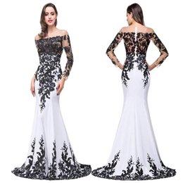Vestidos fiesta en blanco y negro