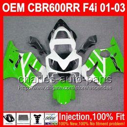 Wholesale Honda Cbr F4i Lights Fairings - Green white OEM For HONDA CBR600 F4i 01 02 03 CBR 600 F4i FS 600F4i Light green L72361 Injection 2001 2002 2003 CBR600F4i 01-03 Fairings