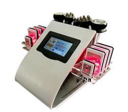 Envío gratis 40 k lápiz labial ultrasónico cavitación 8 LLLT lipo máquina de pérdida de peso láser RF vacío salón de cuidado de la piel equipo de spa desde fabricantes