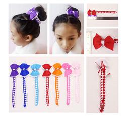 Wholesale Color Sticks For Hair - 50pc hair Bun wraps boutique hair Buns bows clips Head Wrap Hairband Headband for girl women Hair Extensions Full Snood Hair Accessory PD020