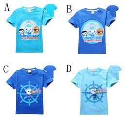 Wholesale Small Boy Shorts - Baby boys T-shirts summer children short sleeve cotton cartoon seabed small column t shirt boy tee shirts C001