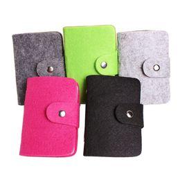 Wholesale Porte Carte - Hot Sale Fashion 24 Bits Cards Holders Quality Suede Business Porte Carte Credit Card Holder Organizer ger For Women and Men