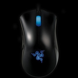 Wholesale Gaming Mouse Lights - Razer Death Adder OEM Version Upgraded Gaming mouse 3500dpi Brand New laptop Game mouse Factory Price Blue light wired usb mouse