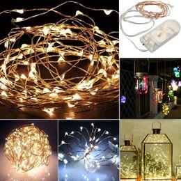 2019 le luci fiabesche funzionano a batteria all'ingrosso Wholesale- 1M String Light Light 10 30LED Battery Xmas Light Party Wedding lampada JUN13 le luci fiabesche funzionano a batteria all'ingrosso economici