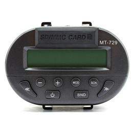 canción mp3 Rebajas Coche Universal de la motocicleta Manillar Radio Audio FM MP3 Altavoz Soporte Control remoto SD Pantalla LCD impermeable Protección contra robo