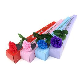 Wholesale Wholesale Fake Carnations - Carnation Soaps Flower Packed Gifts Event Party Goods Favor Toilet soap Scented fake rose soap bathroom accessories for mather day gift SR09