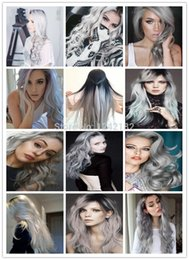 Wholesale 14 Micro Loop Extensions - Micro Loop Ring Links Remy Straight Silver Grey Human Hair Extensions 100g lot 1g Strand Brazilian Virgin Human Hair Extension