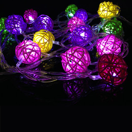 Wholesale Outdoor Coloured Lights - New 4M 20leds Multi-colour led modeling string light Colorful Sepak takraw for outdoor decoration for Party Yard Garden AC220V 110V