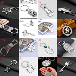 Wholesale Nautical Key Chains - Hot sale 54 styles mixed Alloy Nautical helm compass Car Opener key RingFashion Key Chains Charms Keychains Free Shipping