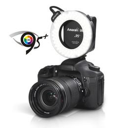Wholesale Wholesale Aputure - Aputure HC100 CRI 95+ Amaran Halo LED Ring Flash Light Speedlight for Canon EOS 7D 6D 50D 5D Mark II III 700D 70D DSLR Camera