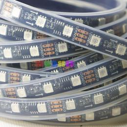 Digital led streifen schwarz pcb online-50M 10X5M 60 LED / M WS2811 IC 300 5050 RGB SMD Flexible wasserdichte IP67 Digital Traumfarbe LED Streifen Licht Lampe Schwarz PCB DC12V