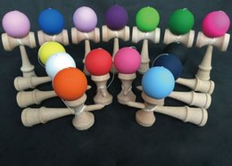 Wholesale Paint Free Games - Kendama Elasticity paint rubber paint Kendama beech kendama skill ball Japanese Traditional Wood Game Kids Toy free shipping in stock