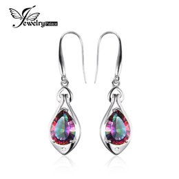 Wholesale sterling silver mystic topaz earrings - Jewelrypalace Water Drop 6.8ct Genuine Rainbow Fire Mystic Topaz Dangle Earrings Pure 925 Sterling Silver Fine Jewelry For Women