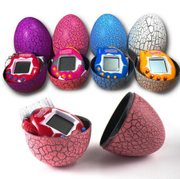 Wholesale Egg Keychain - Creative Tamagotchi Electronic Pets Machine Tumbler Game Toys Nostalgic Keychain Cracked Egg Toy Children Birthday Gift