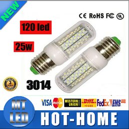 Wholesale E14 Led Small - x100 manufacturers Small wholesale Led corn bulb 120led SMD 3014 25W 110V-220V E27 E14 B22 G9 360 Angle LED Light lighting warranty 2 years