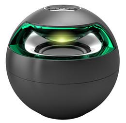 Wholesale Active Mini Speakers - Free DHL AJ-69 Mini Active Bluetooth Stereo Speakers mini speaker bluetooth speaker With Micphone LED Light loudspeaker surround sound