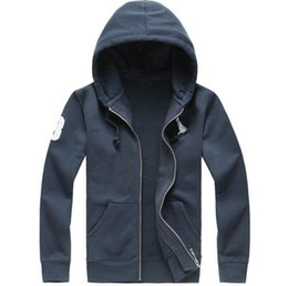 Wholesale Big Mens Jackets Sale - 2018 new Hot sale Mens polo Hoodies and Sweatshirts autumn winter casual with a hood sport jacket men's hoodies big horse