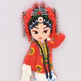 Wholesale People Cartoon Drawings - Cartoon Creative Opera Refrigerator Sticks to the Beijing Peking Opera Magnet Chinese Style Refrigerator Sticks to the Home Decoration