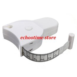 Wholesale Cute Tape Measures - Fitness Accurate Body Fat Caliper Measuring Body Tape Ruler Measure Mini Cute Tape Measure White Drop Shipping HG-1227