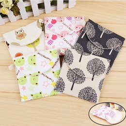 Wholesale Charm Storage - Wholesale- Lovely Charming Nice Brief Cotton Cartoon Sanitary Napkin Bags Sanitary Towel Storage Traveling Travel Bag Popular