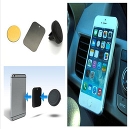 Wholesale Iphone 5s Car Mount - Magnetic Dashboard Car Air Vent Cell Phone Mount Holder for Iphone 5s 6 6plus Samsung S3 S4 S5 S6 for All phones US02