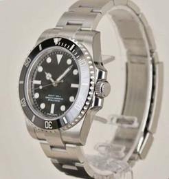 ver réplicas Rebajas Reloj de pulsera automático para hombre, de acero inoxidable, 40 mm, con dial negro, 114060 Reloj de pulsera para hombre