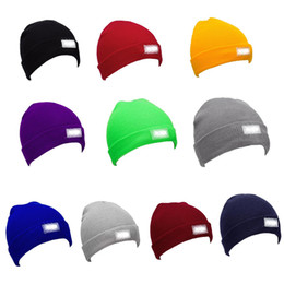 Wholesale Wholesale Vintage Beanies - Snapback Hats LED Light Cap Beanie Hat with 2 Batteries for Hunting Camping Running Fishing Vintage Hats
