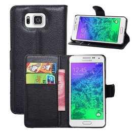 Wholesale S4 Mini Genuine Leather Case - Wallet Genuine Leather Case for iPhone 5C 5 6 4.7 5.5 Plus Samsung S3 S4 S5 Mini Active Note 2 3 4 S5830 Stand Holster Credit Card Cash Slot