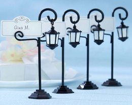 Wholesale Wedding Holder For Cards - Bourbon Street Streetlight Wedding Place Card Holder Favor New Orleans Party Wedding Decoration best for your wedding