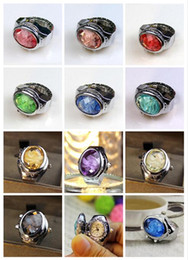 Wholesale watch rings wholesale - 2018 new fashion Ellipse gemstone Ring Wrist Watch flip Ring table originality individuality quartz Ring Watch Student table