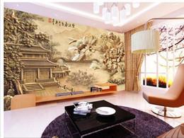 2020 tallas de la pared china Papel de parede Chino clásico tallas en relieve papel pintado no tejido etiqueta de la pared costomize tamaño 891535 tallas de la pared china baratos