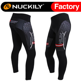 Wholesale Mens Cycling Tights Long - Nuckily Mens cool design winter warmer biking long tights men's anti UV comfortable padded cycling long pant MF001
