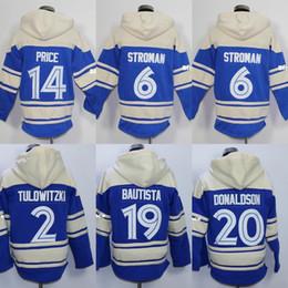 Wholesale Price Ice - 30 Teams Toronto 19 Jose Bautista 2 Troy Tulowitzki 14 David Price 20 Josh Donaldson 55 Russell Martin 6 Marcus Stroman Baseball Hoodies