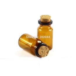 Botellas de corcho decorativas online-Al por mayor- 30pcs 7ml 22 * 40 mm 0.86 * 1.57 en botellas de vidrio pequeñas Frascos con tapón de corcho decorativos Corked minúscula Mini Wising botella de vidrio