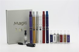 Wholesale Ego T Liquids - 2015 Magic 3in1 Kit All Rebuildable Dry herbel Wax Atomizerl E-Liquid vaporizer 3 in 1 50mAh eGo-T or EVOD battery 510 eGo Thread