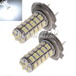 Wholesale Head Lamp Xenon - Big Promotion H7 68 SMD 3528 1210 LED White Xenon Car Auto Vehicle Headlight Bulb Fog Head Lights Parking Lamp Bulb DC12V