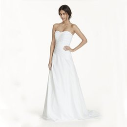 Wholesale Dropped Waist Sweetheart Neckline - A-Line Drop Waist ruched satin bodice with ultra-feminine sweetheart neckline WG3743 Wedding Gown maternity wedding dresses